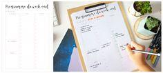Planner à imprimer - programme du week-end Bullet Journal Week, Organiser, Organization Hacks, Getting Organized, Bujo, Week End, How To Plan, Tips, Journaling