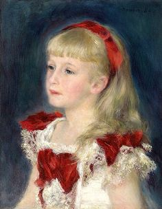 Pierre Auguste Renoir - Mademoiselle Grimprel with a Red Ribbon, 1880