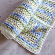 I made this blanket in the summer for a friend whose sister was having a baby. Her request came shortly after my Deramores Blog Award win, so I had lots of lovely new yarn for her to choose from, a…
