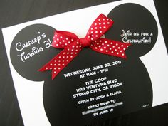 "Minnie mouse birthday theme | minnie mouse the ""in a card"" way 