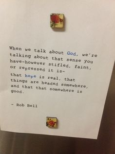 Rob Bell .. About God and hope