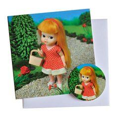 Greeting Card Picknick  * Vintage doll photography by Popjes Art