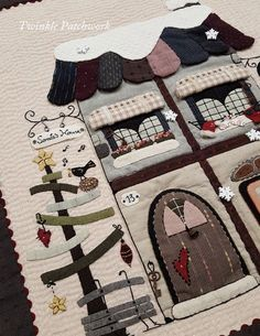 Blog de Twinkle Patchwork sobre patchwork y quilting. Webshop de patrones descargables de pdf de Twinkle Desings R&R. Tutoriales gratuitas. Wool Applique, Applique Patterns, Applique Quilts, Applique Designs, Embroidery Applique, Quilt Patterns, Patchwork Patterns, Tutorial Patchwork, Patchwork Designs