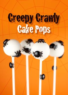 Creepy Crawly Cake Pops - Cute! Maybe I'll do this with my oreo truffles :)