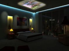 Total guy bedroom - too bad I have vaulted and angled ceilings :(