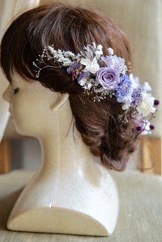 cvrara‥様専用 eva ラベンダーカラーのヘッドドレス&ヘアピース   ハンドメイドマーケット minne