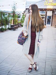 The Janna dress burgundy
