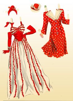 Lana Turner Paper Dolls, 1942 Whitman of Paper Toys, Paper Crafts, Foam Crafts, Paper Art, Paper Dolls Printable, Bobe, Lana Turner, Vintage Paper Dolls, Fashion Art