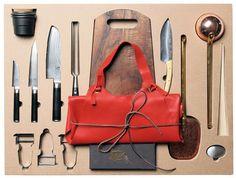 Set ustensiles de cuisine Malle W. Trousseau / n°1 Coupe / 16 pièces pour la découpe - Malle W. Trousseau