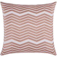 Lumin Thick Chevron Rose Gold 20 Inch Pillow Nourison Accent Pillows Throw Pillows