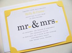 <3 the insert into the yellow basecard. something just so lovely and classy about it. nice typography as well