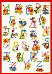 Winnie the Pooh Alphabet Cross Stitch