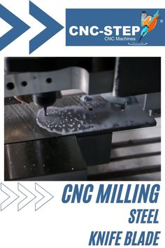 Milling steel with the CNC-STEP milling machine High-Z. #cncmillingmachine #cncrouter #knife #machining Cnc Maschine, Cnc Milling Machine, Cnc Router, Metal Working, Steel, Mechanical Engineering, Blade, Knives, Tool Steel
