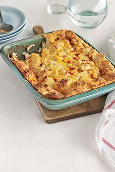 Egg-and-Cheese Soufflé  - CountryLiving.com