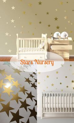 Pack of 120 metallic gold star wall decal stickers. Our metalic gold stars are simple to apply, just peel and stick! Use your imagination with these, they can be very effective. Look absolutely stunning in a nursery or a children's bedroom. Can also be used in your home, office, on your car, as envelope sealers, or as glass warning stickers! #stickers #babynursery #cheapdecor #walldecalls #stars #kidsroom #bedroom #decor #ad