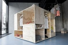 Great idea for a room with no closet, just make it taller rather than wider.