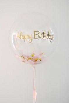 ballon transparent happy birthday