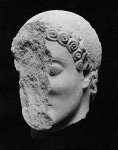 Head of a Kouros (youth)  Greek Archaic Period 530–525 B.C.