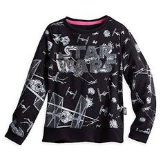 Star Wars Long Sleeve Top for Girls Size 4 Black -- Be sure to check out this awesome product-affiliate link.