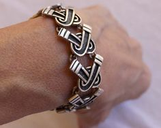 Vintage Bracelet | Margot de Taxco.  Sterling silver.