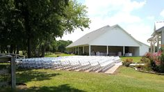 Outside ceremony seating in front of White Chapel Gazebo.