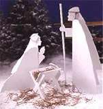 Nativity Scene : Large-format Paper Woodworking Plan