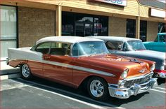 Coddington 1956 Chevrolet Bel Air Sport Coupe white over copper fvr ...