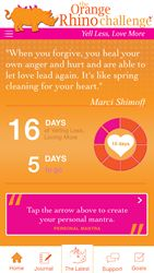 """New Orange Rhino Challenge® App Aims to Help Parents """"Yell Less & Love More"""" In 2015"""