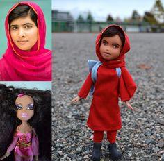 """«Il arrive un moment où on a """"passé l'âge"""" de jouer avec ses poupées Bratz ou princesses Disney. C'est difficile d'imaginer la même chose avec Malala Yousafzai. Peut-on passer l'âge de jouer avec Malala?»"""