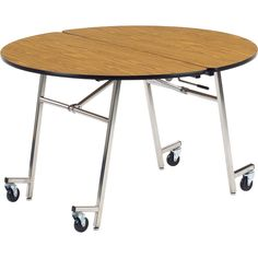 Round mobile cafeteria table 4 diameter at schoolsin