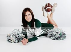 Cheerleader pose but not the football!