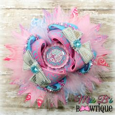 All of God's Grace in one little face! OOAK Over the Top Hair Bow will be up for Auction January 23rd www.facebook.com/missbsbowtique05!!