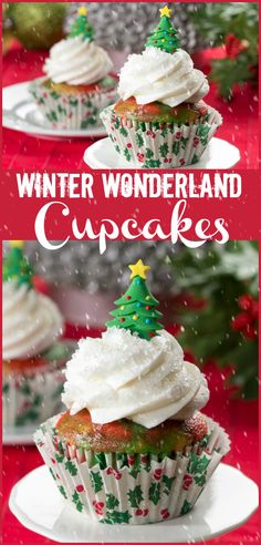 Dazzle and delight them all with these sparkling Winter Wonderland cupcakes! Christmas Sweets, Simple Christmas, Christmas Recipes, Holiday Recipes, Christmas Holidays, White Cake Mixes, Cheesecake Bites, Dessert Recipes, Desserts