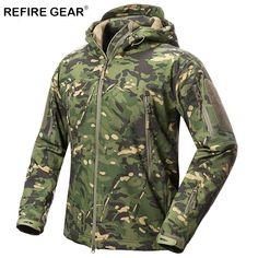 64b8ffb9bf90c HuntGear Jacket Men Waterproof Fleece Camouflage Tactical Jackets