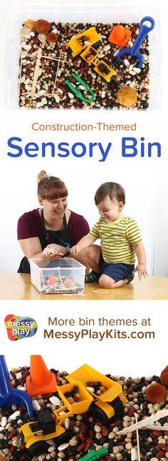 / Learning Toys / Activity Kit for Kids / Sensory Bin Ideas / Sensory Play for Kids / Construction Toys / Dump Truck Sensory Bins, Sensory Activities, Infant Activities, Sensory Play, Educational Activities, Learning Activities, Activities For Kids, Sensory Table, Preschool Education