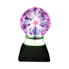 Universal Lighting and Decor Plasma Ball with Neon Ring Accent Lamp ($30) ❤ liked on Polyvore featuring home, lighting, furniture, black, novelty - accent lamps, onyx lamp, black lights, black globe, neon color lights and neon lamps