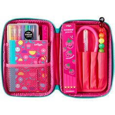 This super awesome gift pack comes with heaps of smiggle goodies. It includes our favourite bubble pencil case, super exercise book, stackable colour pencil… Colored Pencil Case, Coloured Pencils, Colored Paper, Pencil Cases, Pencil Pouch, Tween Girls, Toys For Girls, Cool School Supplies, School Accessories