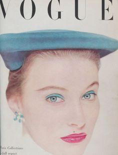 John hat photographed by Edwin Blumenfeld for the cover of British Vogue, April 1951 Vogue Magazine Covers, Fashion Magazine Cover, Fashion Cover, Anna Wintour, Life Magazine, Vanity Fair, Vintage Magazines, Fashion Magazines, Vintage Hats