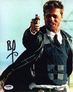 """Brad Pitt Seven """"Se7en"""" Signed 8x10 Photo Certified Authentic PSA/DNA"""