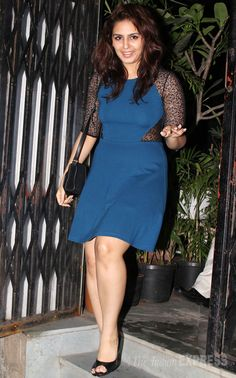 Huma Qureshi seems pleasantly surprised to see the photogs as she steps out of the restaurant. (Photo: Varinder Chawla)