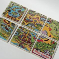 Walt Disney World Vintage Map Coasters - Chad actually got me these for Christmas!  I love love love them!
