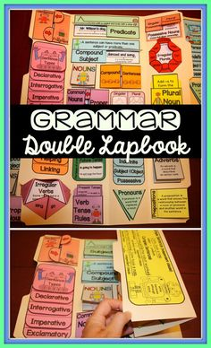 This double grammar lapbook lasts for the entire school year. Great for grades 3 and Assembly directions included. Grammar Skills, Teaching Grammar, Grammar Lessons, Teaching Reading, Teaching English, Teaching Resources, Writing Lessons, Teaching Spanish, Learning