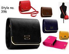 Gold Frame mini cross body Handbag pu leather bag purse 396