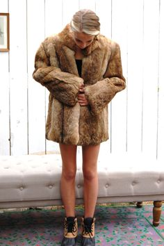 Sorry, rabbit fur coat vintage here casual