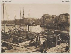 1919 Το λιμάνι του Ηρακλείου. - BAUD-BOVY, Daniel / BOISSONNAS, Frédéric - ME TO BΛΕΜΜΑ ΤΩΝ ΠΕΡΙΗΓΗΤΩΝ - Τόποι - Μνημεία - Άνθρωποι - Νοτιοανατολική Ευρώπη - Ανατολική Μεσόγειος - Ελλάδα - Μικρά Ασία - Νότιος Ιταλία, 15ος - 20ός αιώνας