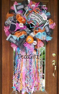 Retro San Antonio Spurs Wreath by decoglitz