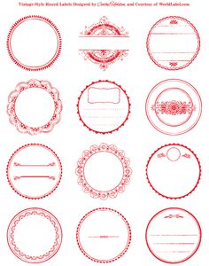 thousands of free printable labels, every style you can think of. WorldLabel's Free Printable Labels Printable Labels, Free Printables, Labels Free, Free Label Templates, Design Templates, Etiquette Vintage, Vintage Labels, Printable Vintage, Vintage Tags