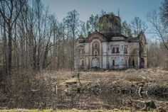 Somewhere on the swamps of the Novgorod region of Russia, on both sides of one river, stands a fortress – monastery built in the seventeenth century with towers, belfry, temples and chapels. It's all overgrown with young trees and no roads lead there.