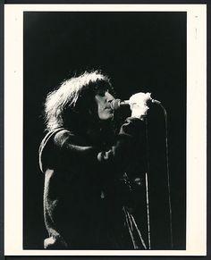 1970's Original Photo PATTI SMITH Proto Punk, Punk Rock Star Performing on Stage