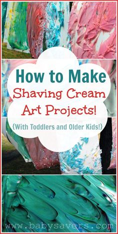 shaving cream art for all ages: It's an excellent sensory activity for babies and toddlers, and older kids will make amazing creations with it!